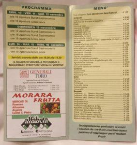 menu stuoie sport e società